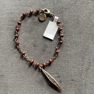 House of Harlow 1960 wooden karma bead bracelet